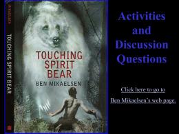 Touching Spirit Bear: Chapter Questions
