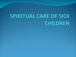 spiritual care of sick children