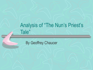 "Analysis of ""The Nun`s Priest`s Tale"" - Mr. Jackson`s Web-site"