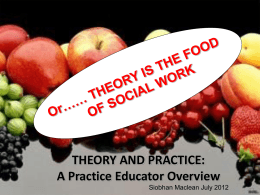 Siobhan Maclean – Theory and practice