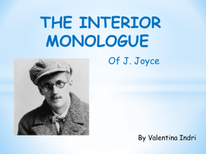 The Interior Monologue_ppt