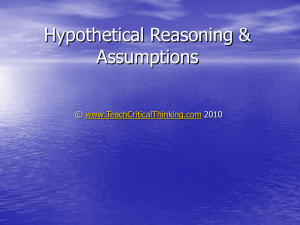Assessing and Developing Argument Hypothetical Reasoning and