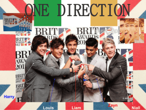 ONE DIRECTION - lycee jean moulin english website