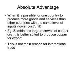 Absolute and Comparative Advantage PPT – ZB