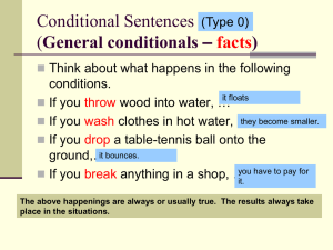 Finishing Conditional Sentences (possible situations)