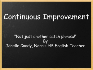 Continuous Improvement Powerpoint