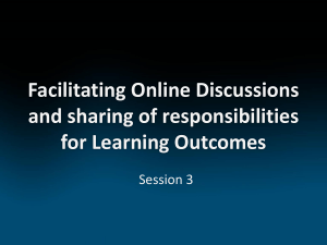 Facilitating Online Discussions and sharing of responsibilities for