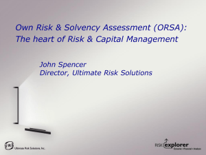ORSA: the heart of Risk & Capital Management