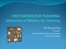 Teaching and learning model-R - Tdi