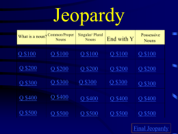 Jeopardy-English Review