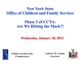 to view the presentation - New York State Office of Children and