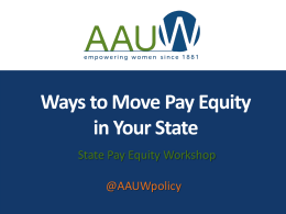 State Equal Pay Presentation