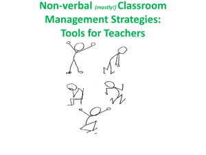 NLP and Classroom Management