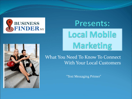 Mobile Marketing - Business Finder NY Mobile
