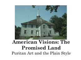 The Old Ship Church Puritan Culture and the Plain Style