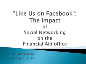 """Like Us on Facebook"": The impact of social networking - DE-DC-MD"