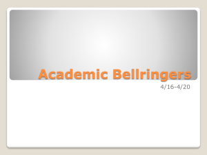 Academic Bellringers