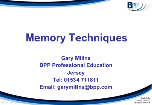 Memory Techniques - BPP Professional Education