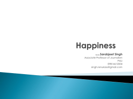 HAPPINESS PPT for PAU Students