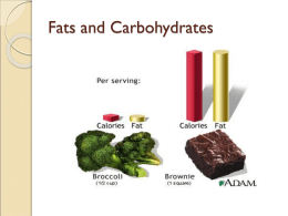 Fats and Carbohydrates pages 10-11