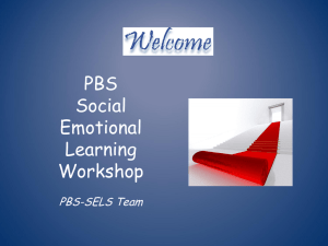 PBS- Social Emotional Learning Worshop