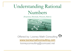 Understanding Rational Numbers