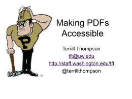 Making PDF Accessible