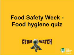 Food hygiene quiz