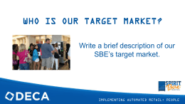 who is our target market?