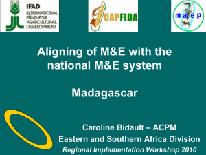 Suivi-Evaluation Programme FIDA Madagascar