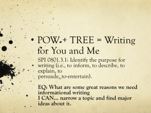 POW + TREE = Writing for You and Me