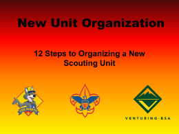 New Unit Organization - Monmouth Council, BSA