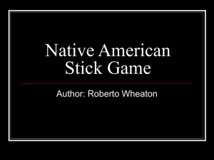 Native American Hand Stick Game - Full