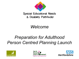 Person-centred planning - Hertfordshire County Council