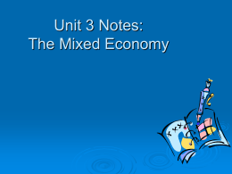 The Mixed Economy 1 _Student Handout_