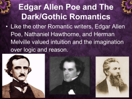 Poe and The Dark Romantics