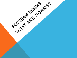 Establishing PLC Team Norms