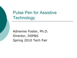 Pulse Pen for Assistive Technology