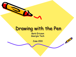 Powerpoint slides for Drawing with Pen