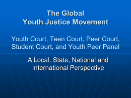 A Global Youth Justice Perspective