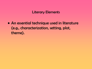 Keystone Powerpoint: Literary Elements