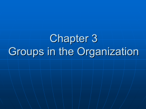 (1) differentiate between formal and informal groups