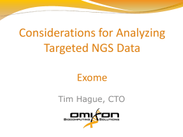 Considerations for Analyzing Targeted NGS Data – Exomes