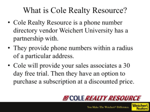 Go to www.colerealtyresource.com