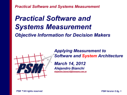 Applying Measurement to Software Architecture
