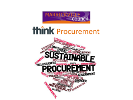Marrickville Council THINK Procurement