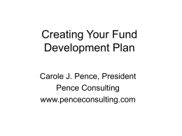 Creating Your Fund Development Plan