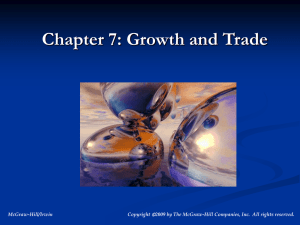 Growth and Trade