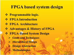 3) FPGA Based Systems Design