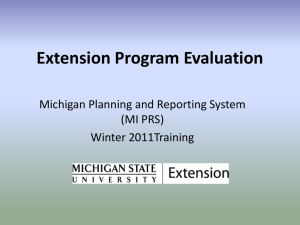 Extension Program Evaluation